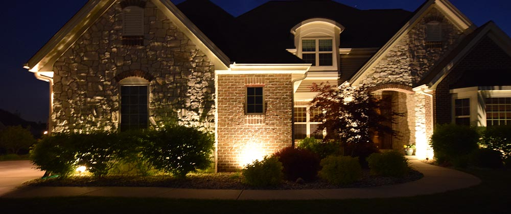 Outdoor lighting patera landscaping omaha nebraska front of home mozeypictures Images