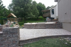 Patio, Steps and Play Area in Back Yard
