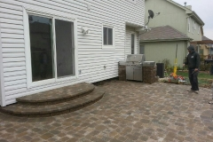 Two Steps and Patio in Back Yard
