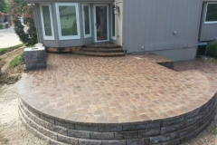 Detailed Stone Patio with Steps - Patera