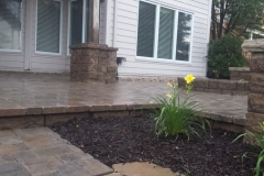 Beautiful Stone Work and Flower Bed by Patera Landscaping