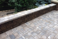 Patio and Retaining Wall in Back Yard - Patera Landscaping