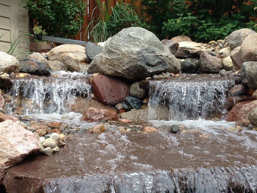 Water Feature - Patera Landscaping - Back Yard