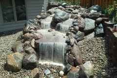 Elevated Water Feature by Patera Landscaping