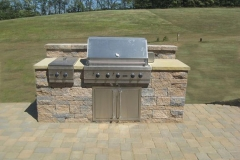 Out Door Kitchen Stove Installation by Patera Landscaping