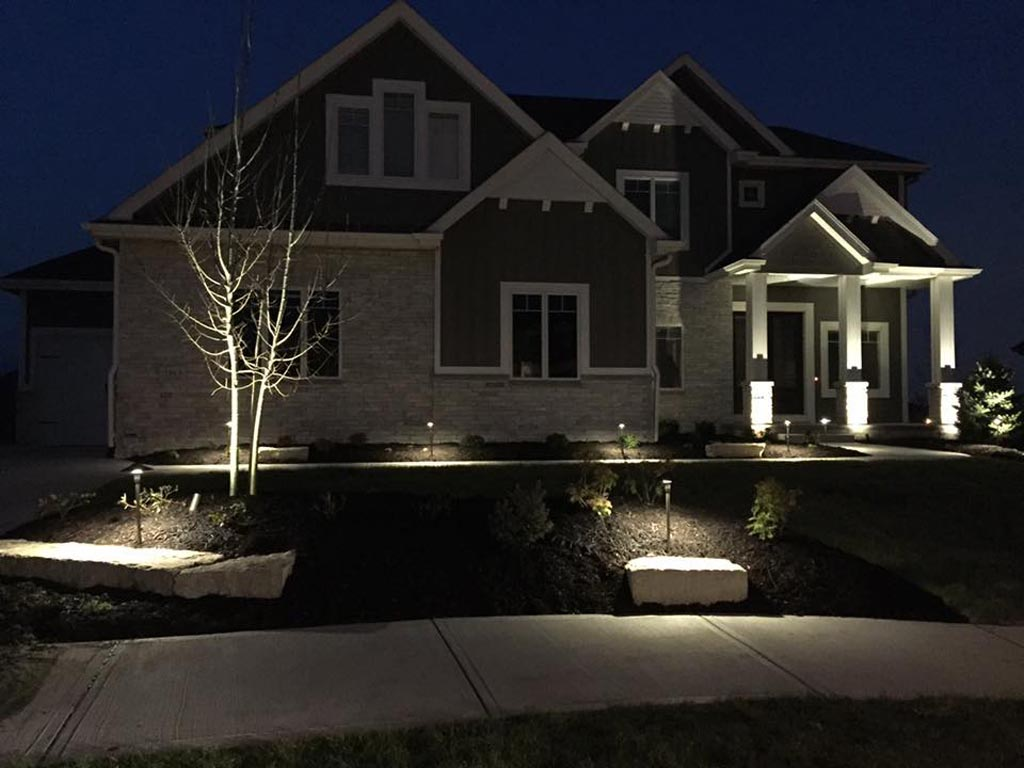 front home lights for security
