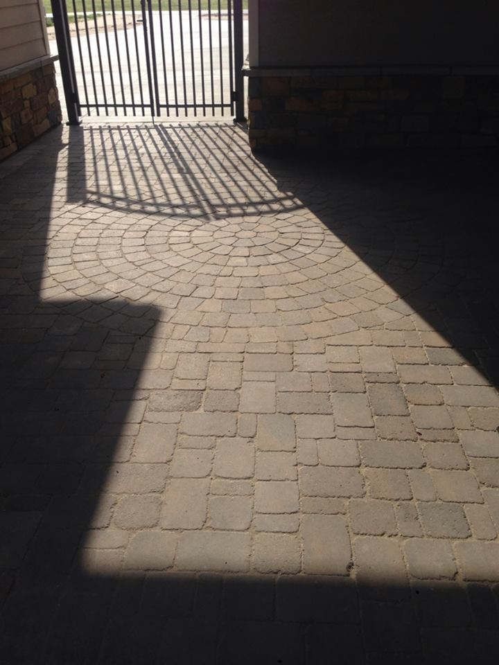 Stone Work for Patio with Sunlight