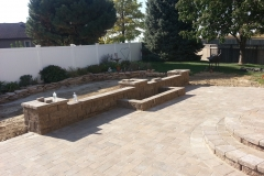 Back Yard Patio, Steps and Landscaping Area - Patera