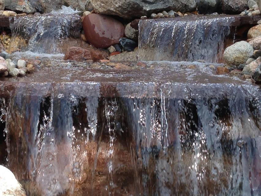 Stone Water Feature in Back Yard