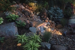 Landscaping with Water Feature Accent